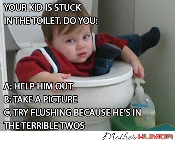 KID STUCK IN TOILET
