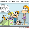 Funny cartoon about being a little brother