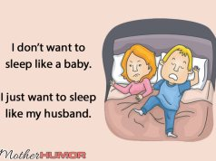 Sleep like husband ecard