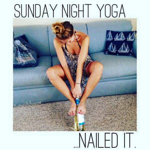 sunday night yoga humor