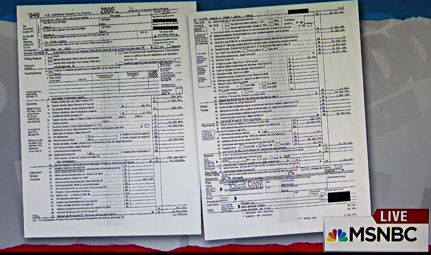 Image result for images of Trump's 2-page tax returns