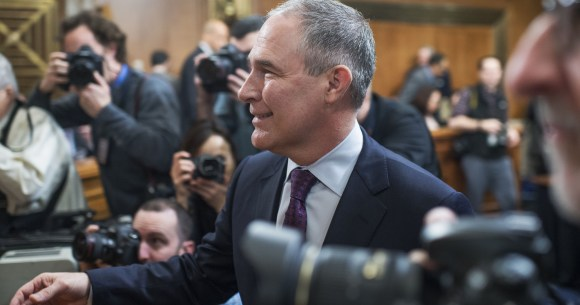 Here's what Trump's EPA boss was up to while disasters struck