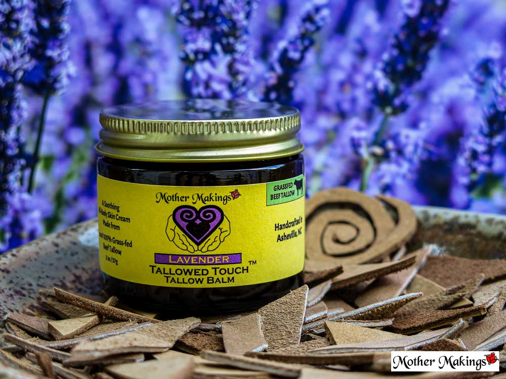 2oz Lavender tallowed Touch Tallow balm product photo.