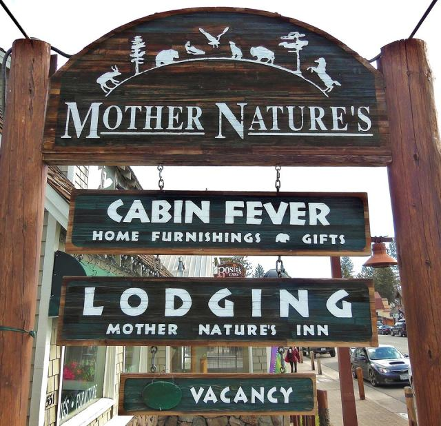 Mother Nature's Inn Sign from Street