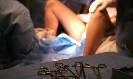Woman giving birth 004