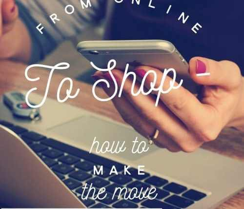 turn online business into a shop