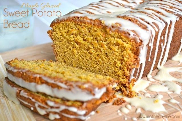 Maple Glazed Sweet Potato Bread | www.motherthyme.com