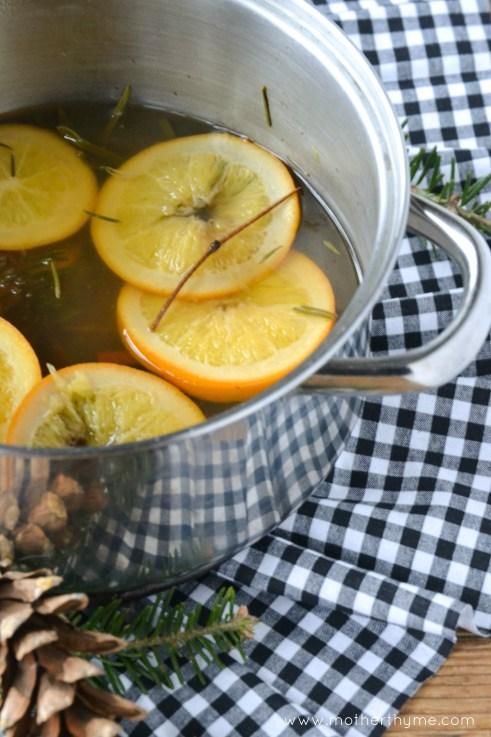 orange and balsam simmering potpourri