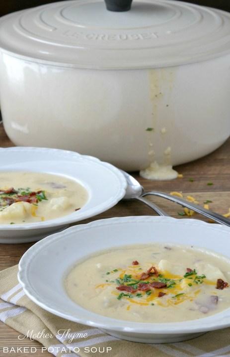 Baked Potato Soup | www.motherthyme.com