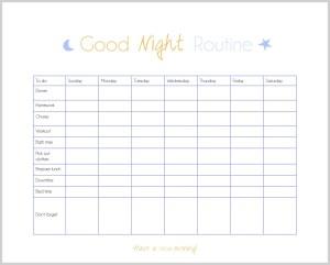 Organize your routine - evening checklist   www.motherthyme.com
