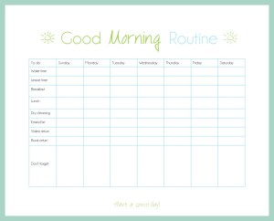 Organize Your Routine- Morning Routing Checklist | www.motherthyme.com