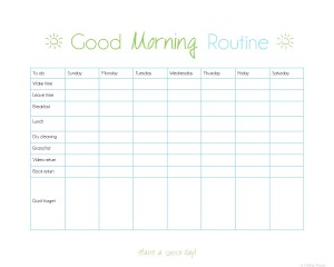 Organize Your Routine- printable morning checklist | www.motherthyme.com