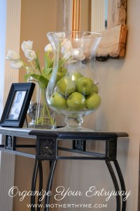 Organize Your Entryway   www.motherthyme.com