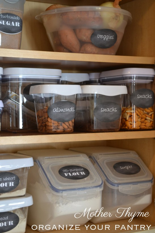 Organize Your Pantry   www.motherthyme.com