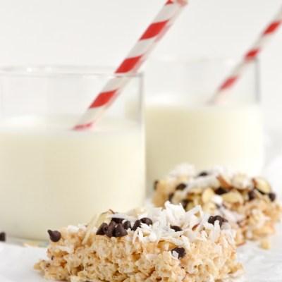 Coconut Almond Rice Krispie Treats