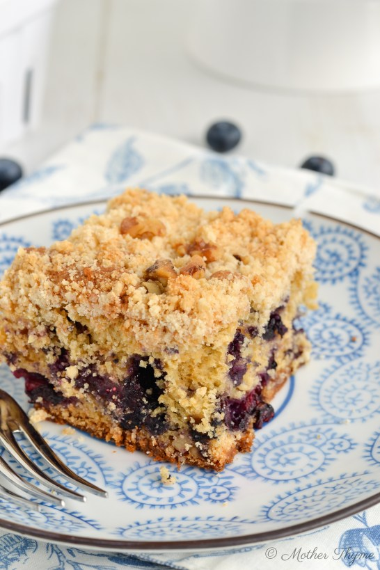 Blueberry Crumb Cake by Mother Thyme