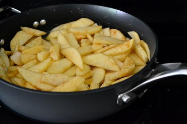 Skillet Salted Caramel Apple Crisp - Mother Thyme