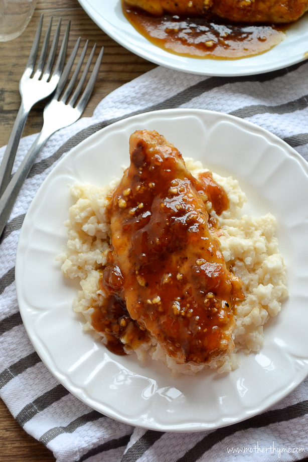 Apricot Glazed Chicken from www.motherthyme.com