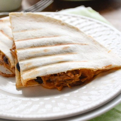 Slow Cooker Pork Carnitas Quesadilla