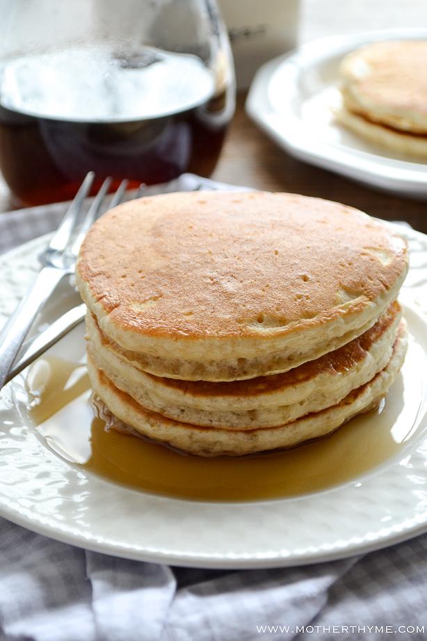 Brown Sugar Pancakes   www.motherthyme.com