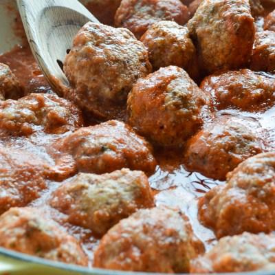 Low Carb Meatballs with Marinara