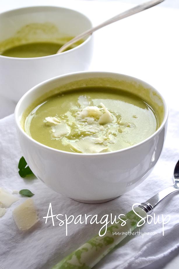 Asparagus Soup | www.motherthyme.com #soup