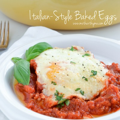 Italian-Style Baked Eggs (+$25.00 Visa Gift Card Giveaway from Eggland's Best)