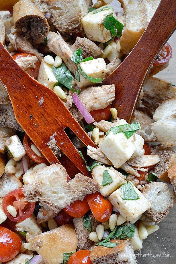 Chicken Caprese Panzanella Salad | Mother Thyme