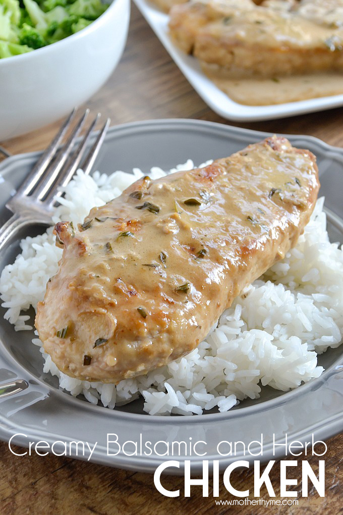 Creamy Balsamic and Herb Chicken   Mother Thyme