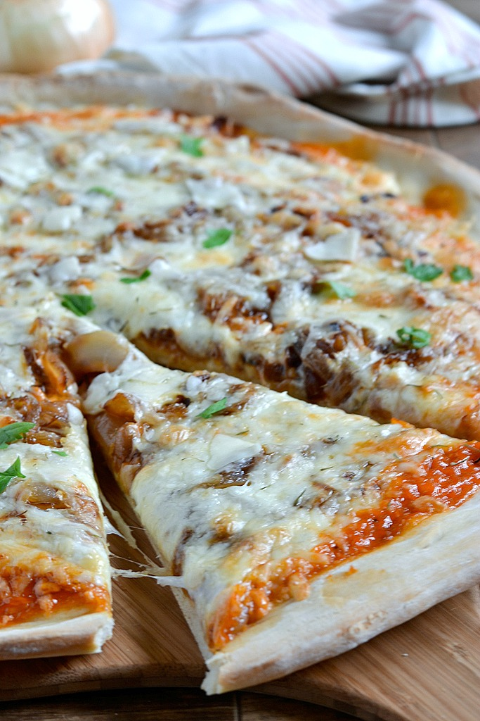 BBQ Pizza with Caramelized Onions