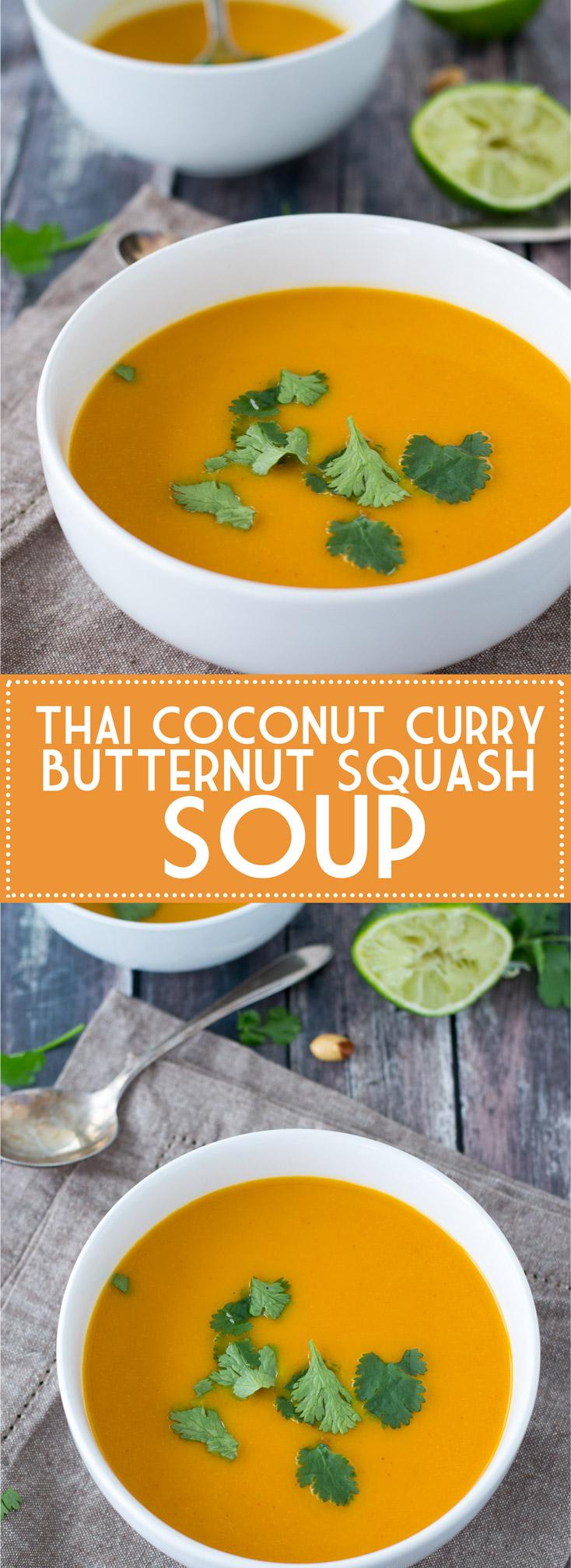 Thai Coconut Curry Butternut Squash Soup | www.motherthyme.com