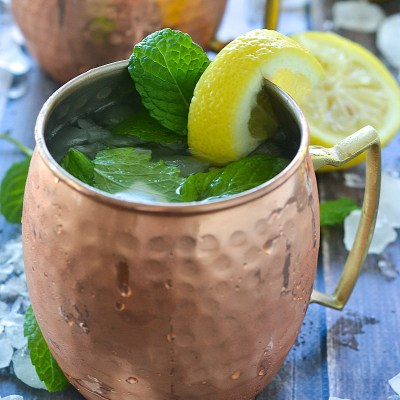Sweet Lemon and Mint Moscow Mule