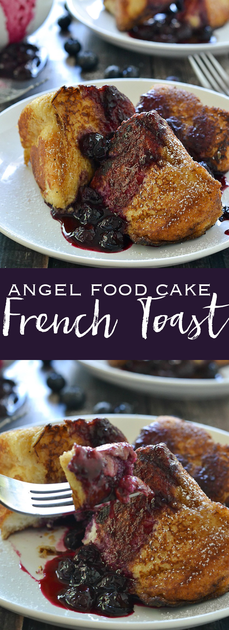 Angel Food Cake French Toast w/ Blueberry Compote - this is SO good! www.motherthyme.com