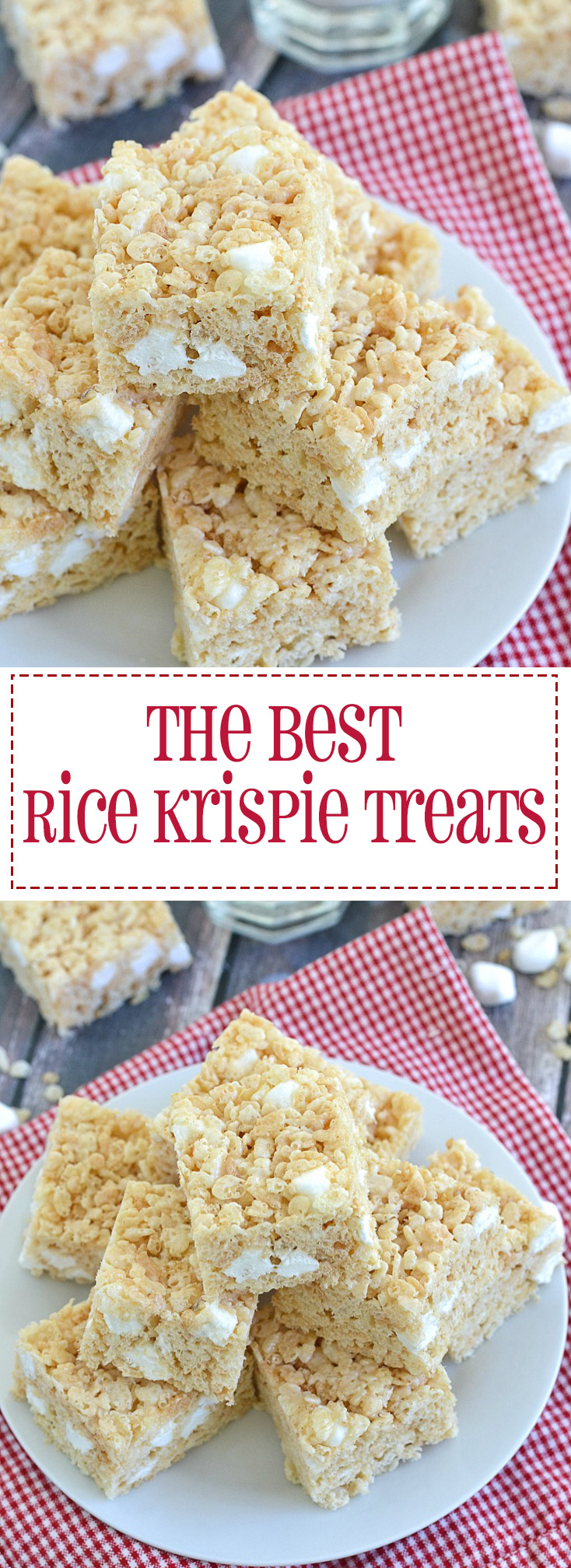 Soft, thick and chewy rice krispie treats. Seriously the best recipe! www.motherthyme.com