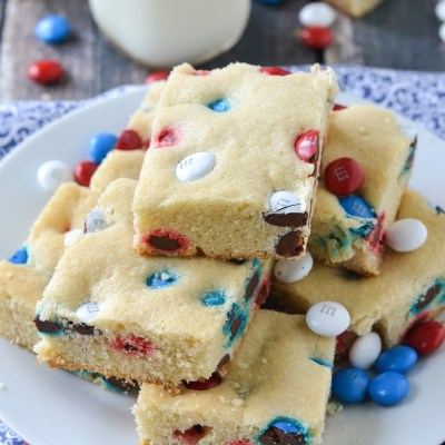 M&M Sugar Cookie Bars