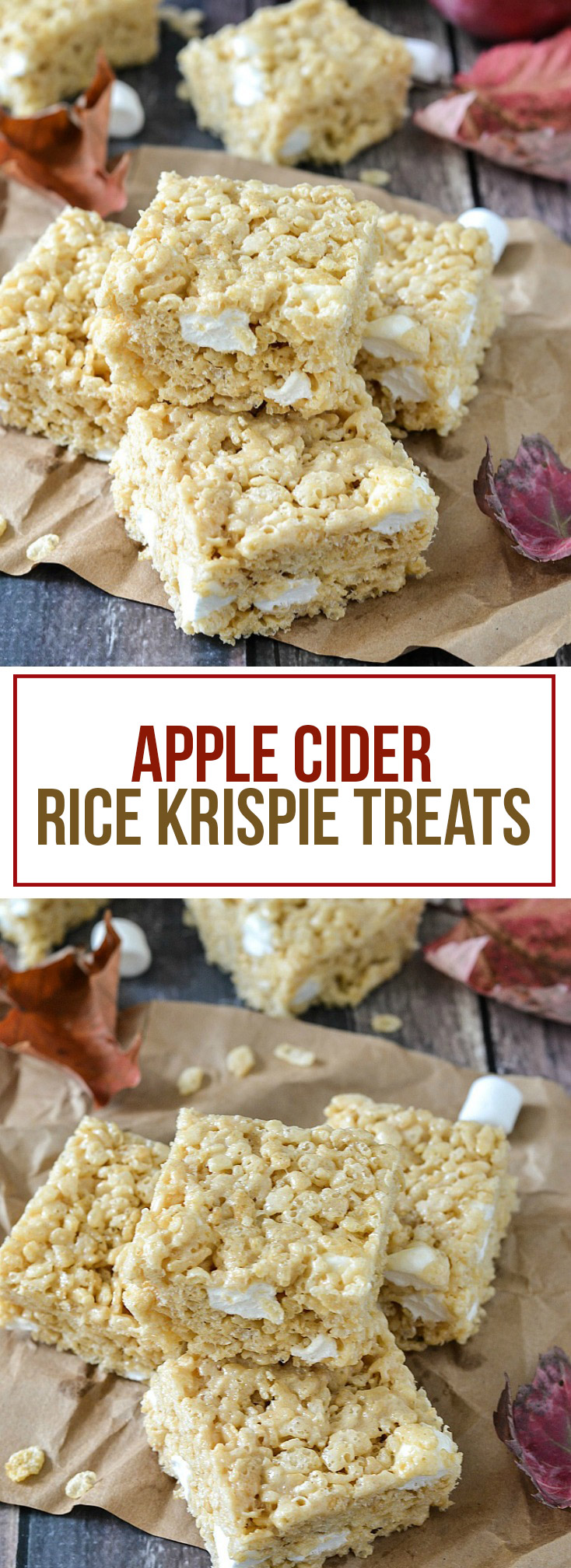 Apple Cider Rice Krispie Treats - www.motherthyme.com