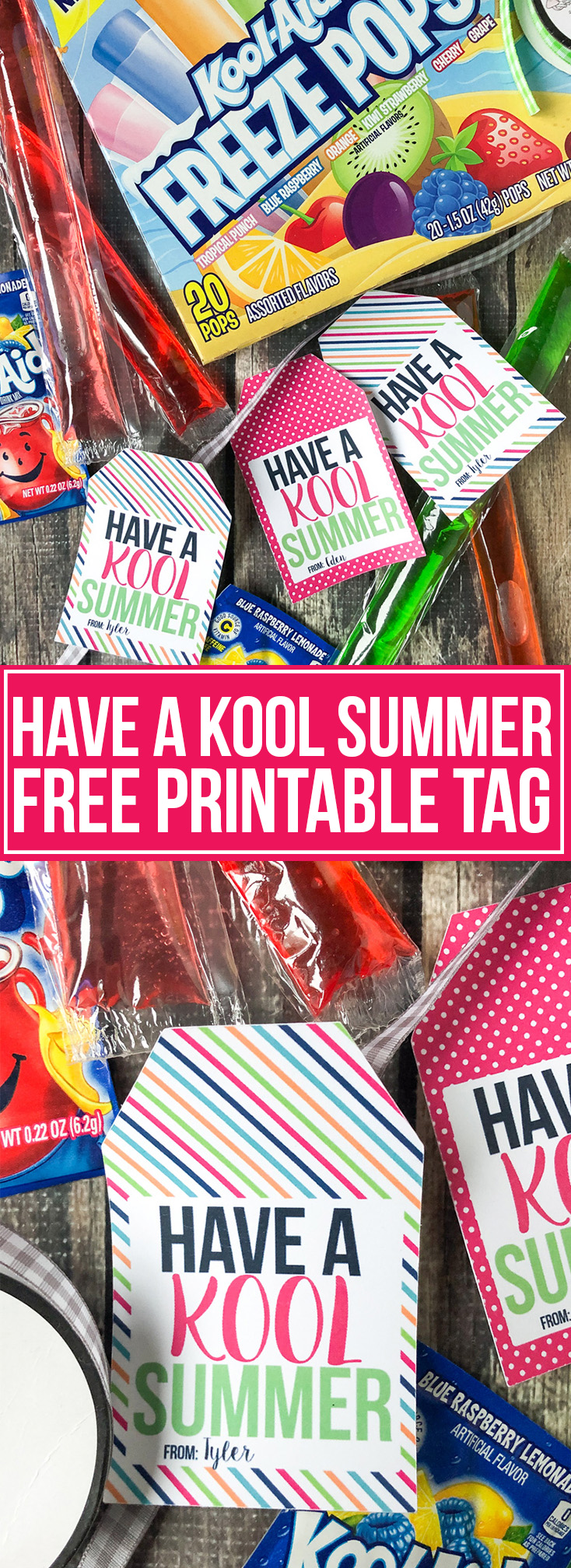 HAVE A KOOL SUMMER FREE PRINTABLE TAG