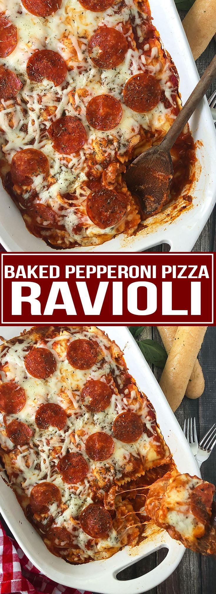 BAKED PEPPERONI PIZZA RAVIOLI
