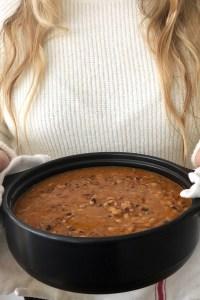 SLOW COOKER BLACK-EYED PEA SOUP