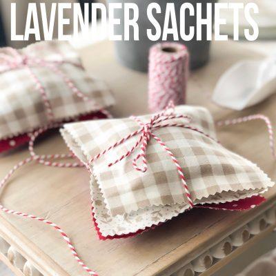 Easy No Sew Lavender Sachets