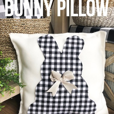 EASY NO SEW BUNNY PILLOW