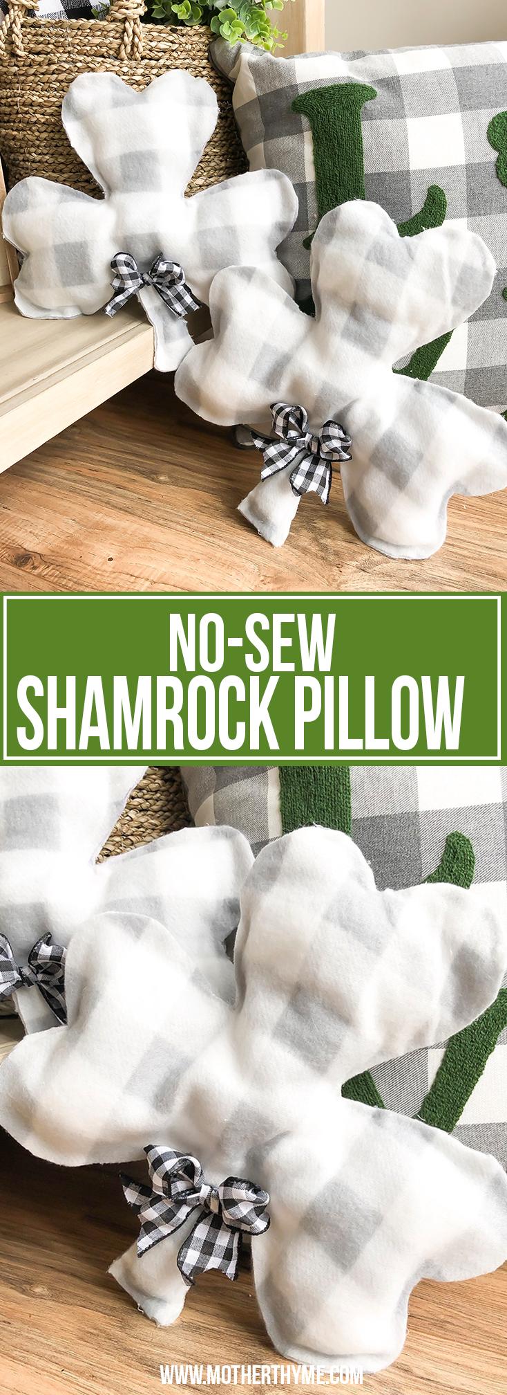 NO-SEW SHAMROCK PILLOW