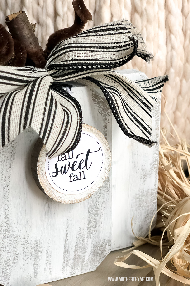 Dollar Tree Chunky Pumpkin and Free Printable Tags