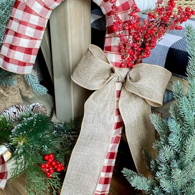 Dollar Tree Candy Cane Wreath