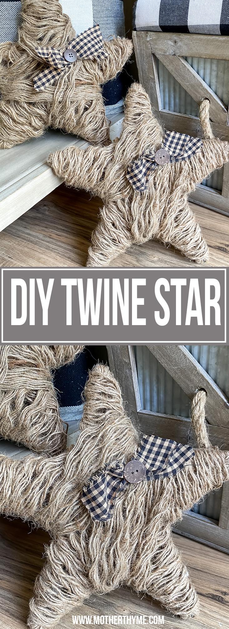 DIY TWINE STAR