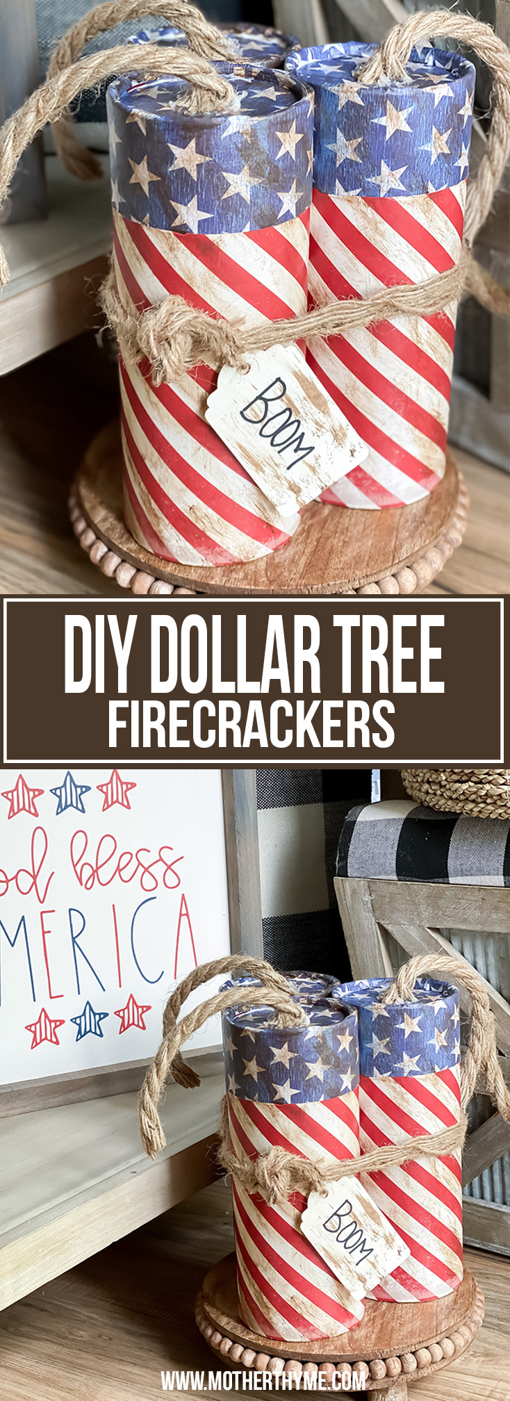 DIY DOLLAR TREE FIRECRACKERS
