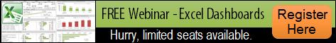 Free Excel Dashboard Webinar