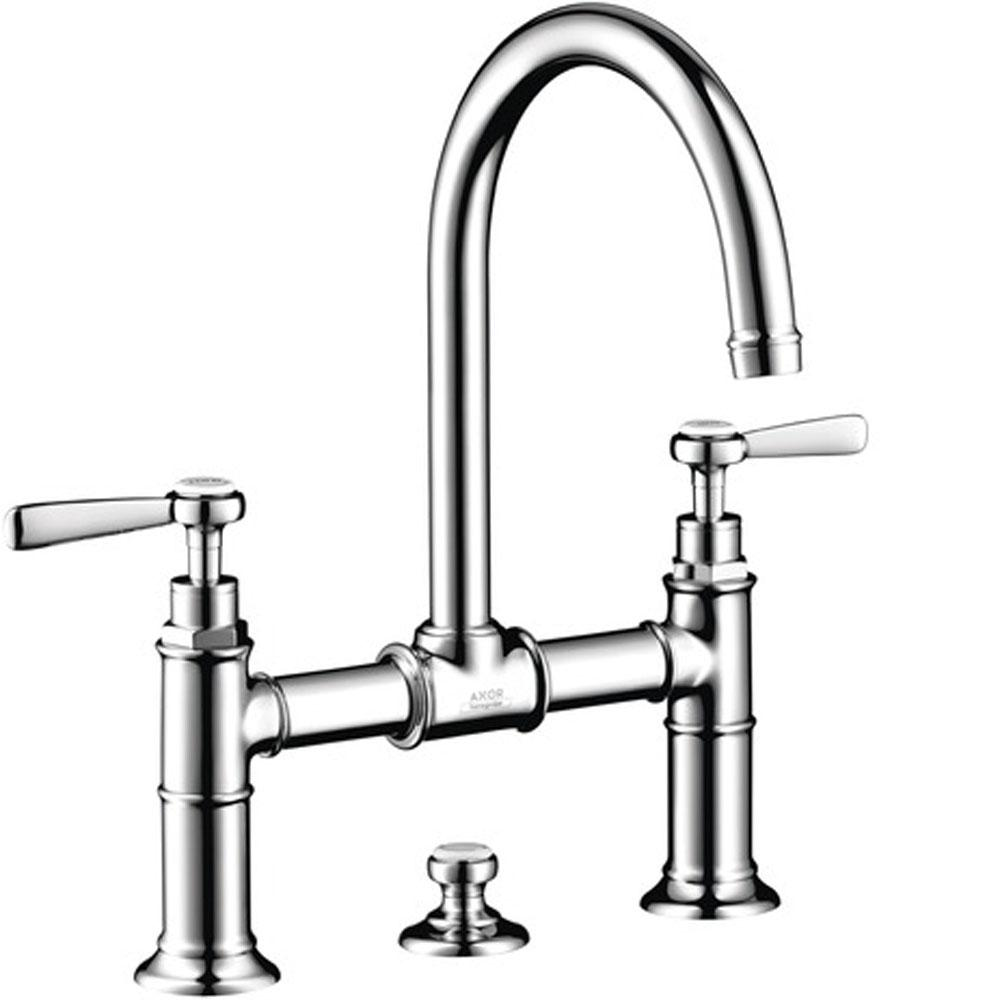 axor montreux 2 handle faucet 220 with lever handles and pop up dra