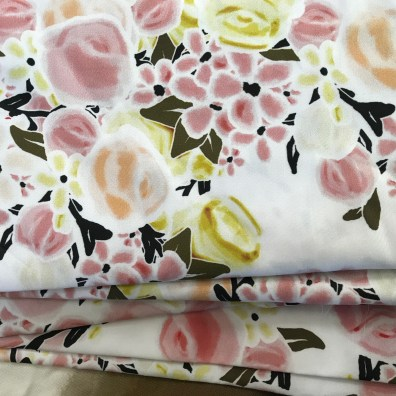 floral organic cotton sateen fabric