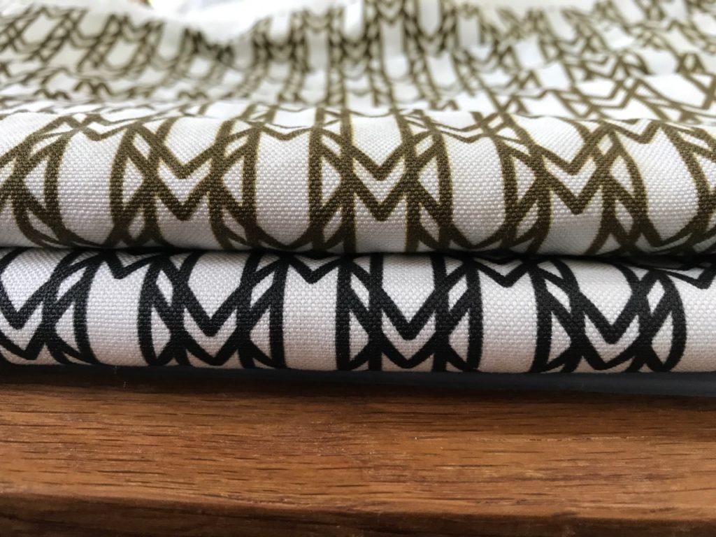 signature monogram fabric linen texture detail